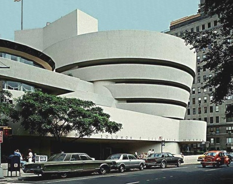 Solomon R. Guggenheim Museum, Frank Lloyd Wright, 1959.  Image courtesy Guggenheim Museum.