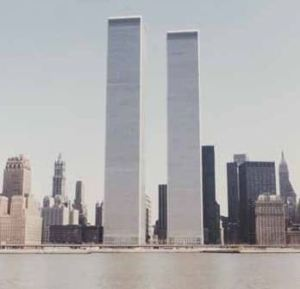 1 World Trade Center and 2 World Trade Center, Circa 1973.  Image via Feedreader.