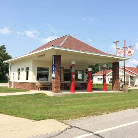 Reed's Standard Service Station, built circa 1925