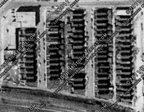 1953 aerial of Claremont, Heath and Oakley Avenue (via historicaerials.com.)