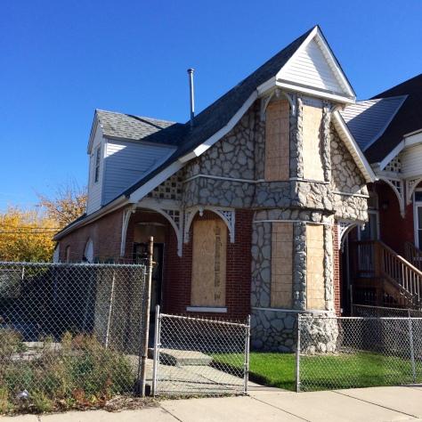 1307 South Claremont Avenue, midcentury faux stone cladding