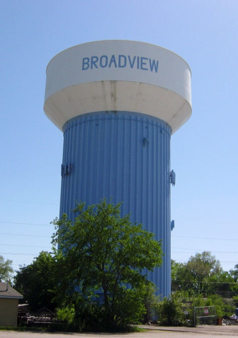 Fluted column, Broadview, Illinois.  Built 1967.